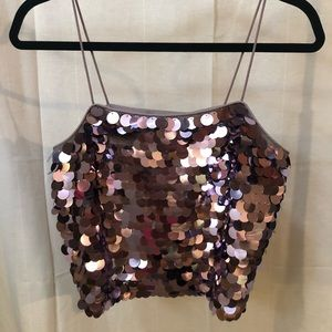 Sparkly sequin top